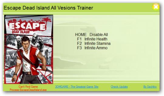 Escape Dead Island Ultimate Trainer