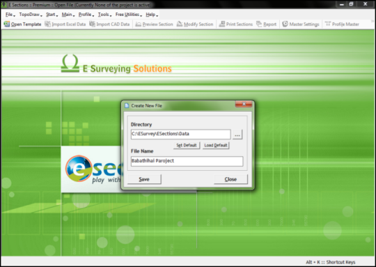 ESurvey Sections