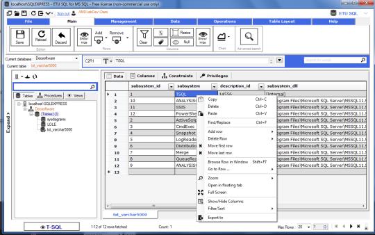 ETU SQL for MS SQL