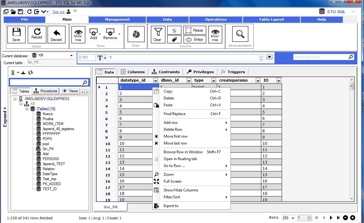 ETU SQL