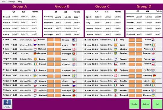 Euro 2012 Fixtures