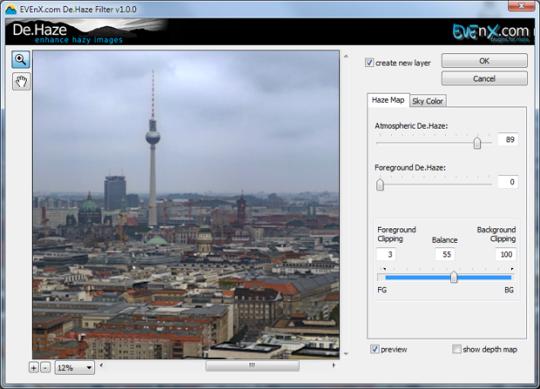 EVEnX De.Haze Plugin for Adobe Photoshop