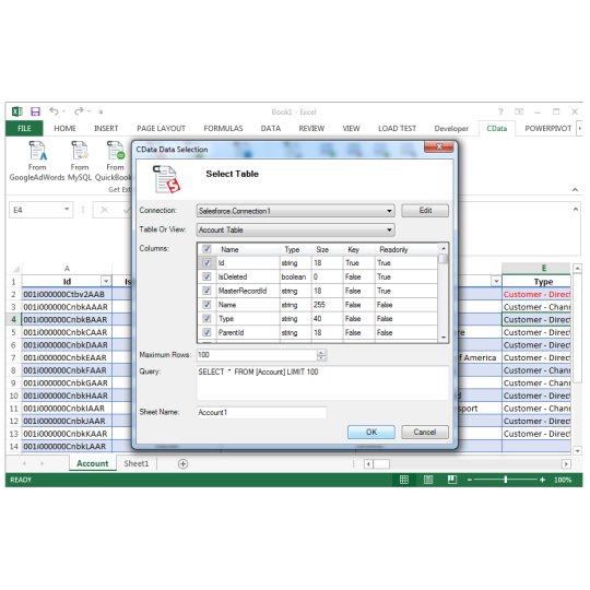 Excel Add-In for Azure