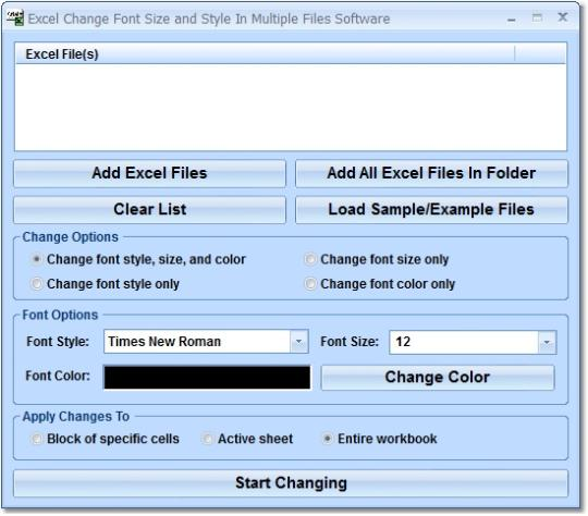 Excel Change Font Size and Style In Multiple Files Software