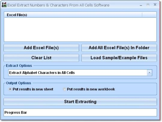 Excel Extract Numbers and Characters From All Cells Software