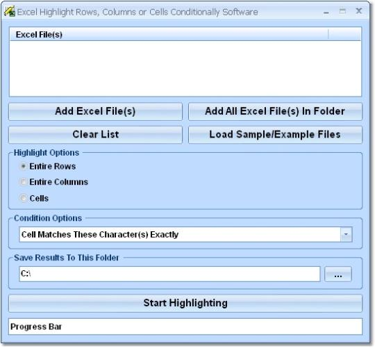 Excel Highlight Rows, Columns or Cells Conditionally Software