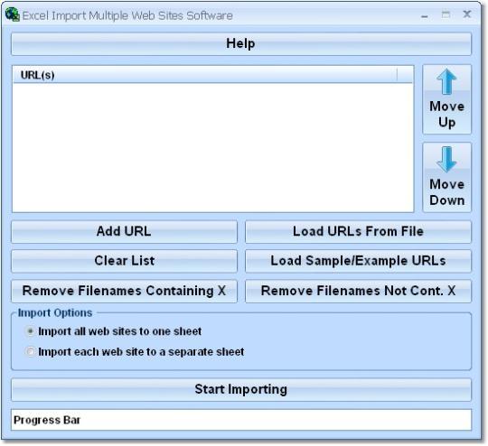 Excel Import Multiple Web Sites Software