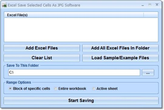 Excel Save Selected Cells As JPG Software
