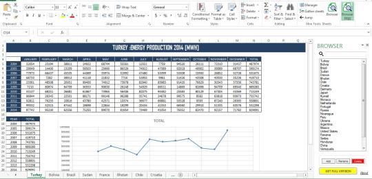 Excel Sheets Browser