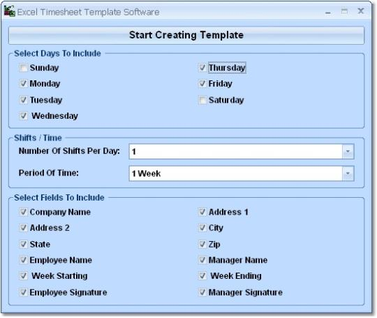 Excel Timesheet Template Software