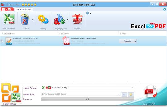 Excel XlsX to PDF