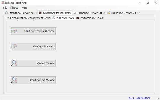 Exchange Toolkit Panel