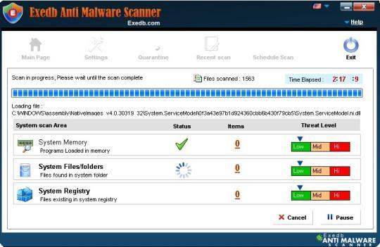Exedb Anti Malware Scanner