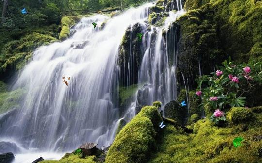 Exotic Waterfall Screensaver