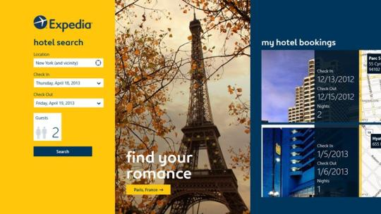 Expedia for Windows 8