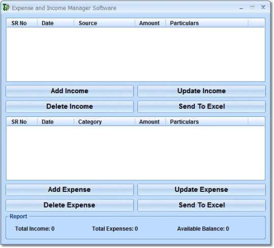 Expense and Income Manager Software