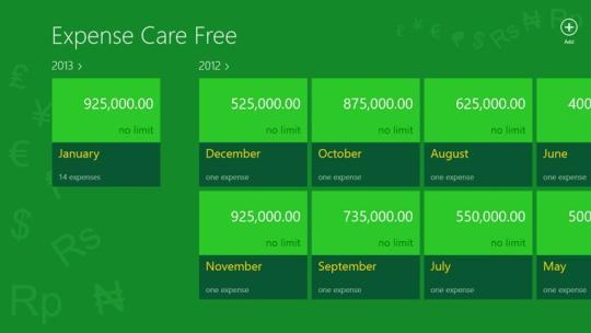 Expense Care Free for Windows 8