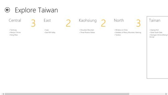 Explore Taiwan for Windows 8