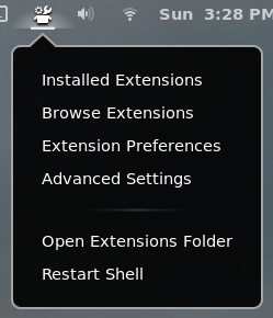 Extension Shortcuts