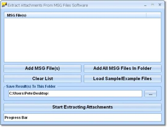Extract Attachments From MSG Files Software