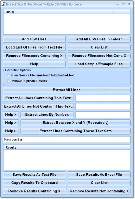 Extract Data & Text From Multiple CSV Files Software