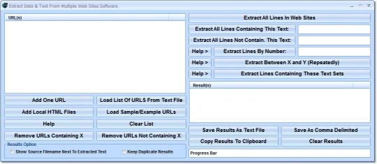 Extract Data & Text From Multiple Web Sites Software