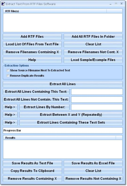 Extract Text From RTF Files Software