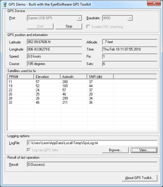 Eye4Software GPS Toolkit