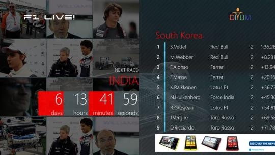 F1 Live for Windows 8