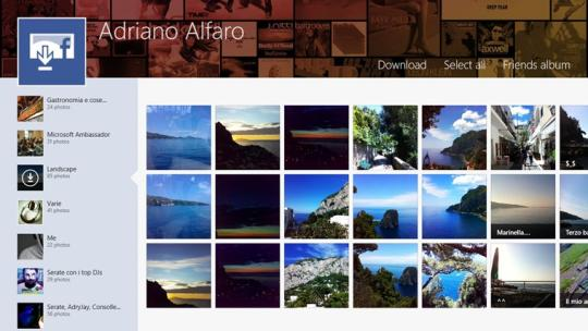 Facebook album exporter for Windows 8