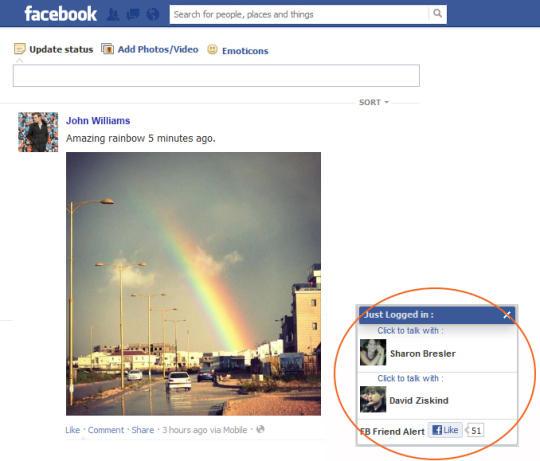 Facebook Friend Alert