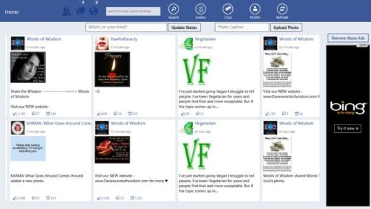 Facebook Lite for Windows 8