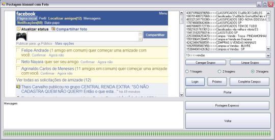 Facebook PostGroup App