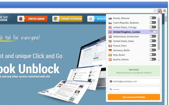 Facebook Unblock for Chrome
