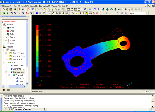 Falcon a Lightweight FEM Post Processor