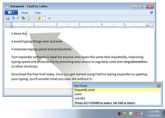 FastFox Text Expander