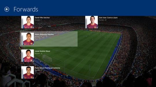 FC Barcelona for Windows 8
