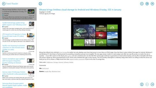 Feed Reader for Windows 8