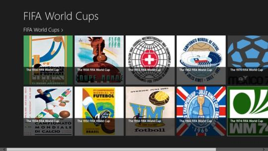 FIFA World Cups for Windows 8 apps