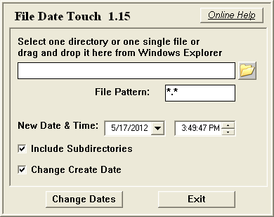 File Date Touch