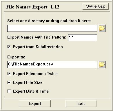File Names Export