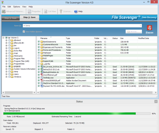 File Scavenger Data Recovery Utility