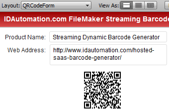 FileMaker Pro Streaming Barcode SaaS