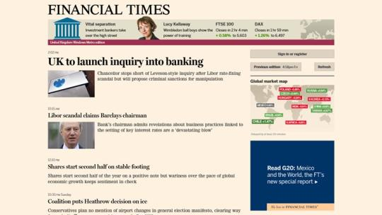 Financial Times for Windows 8