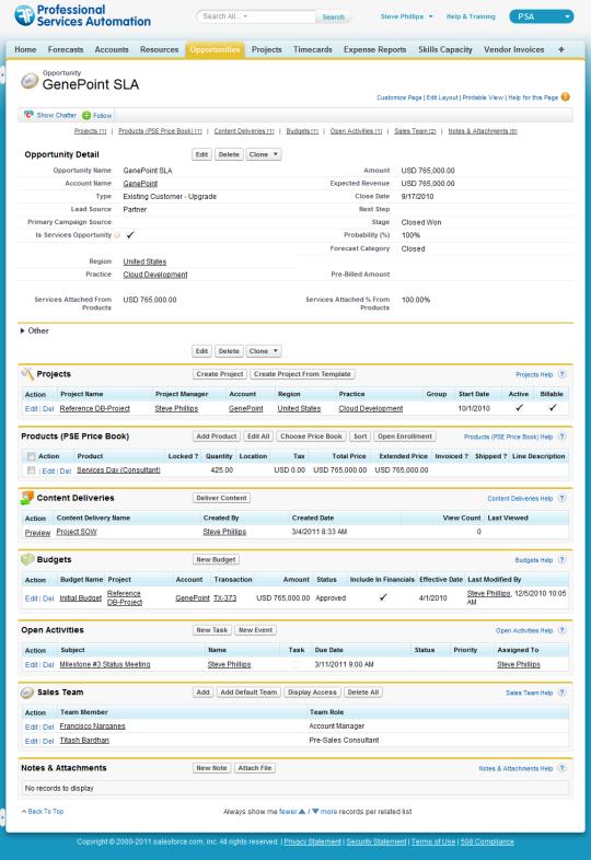 FinancialForce Professional Services Automation (PSA)