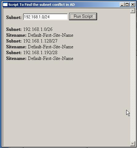 Find subnet conflict