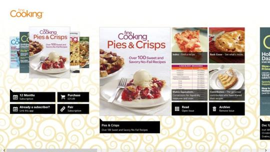 Fine Cooking for Windows 8