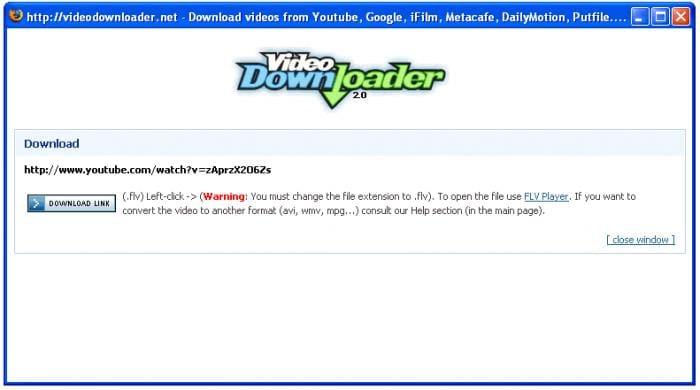 Бесплатно скачать Firefox VideoDownloader для Windows 98