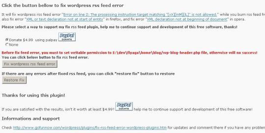 Fix RSS Feed Plugin