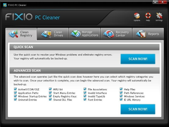 Fixio PC Cleaner 2010
